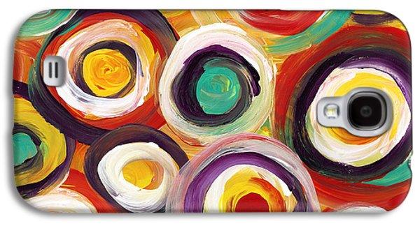 Colorful Bold Circles Galaxy S4 Case by Amy Vangsgard