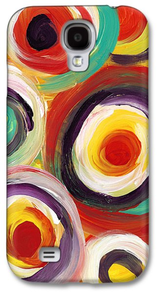 Colorful Bold Circles Vertical Galaxy S4 Case by Amy Vangsgard