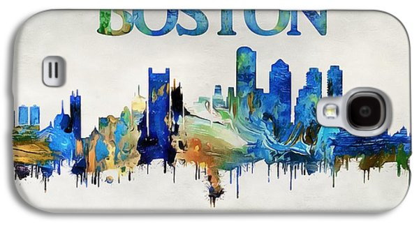 Colorful Boston Skyline Galaxy S4 Case by Dan Sproul