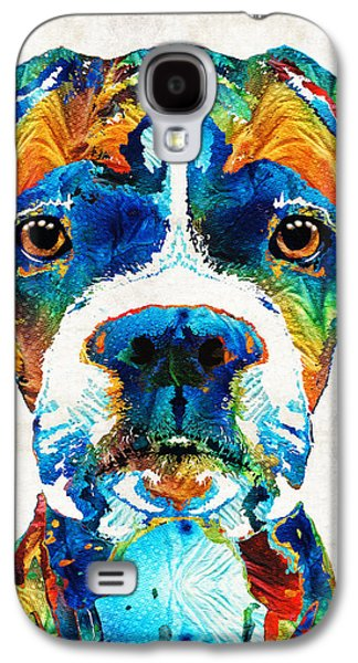 Colorful Boxer Dog Art By Sharon Cummings  Galaxy S4 Case