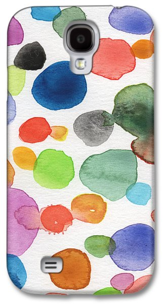 Colorful Bubbles Galaxy S4 Case by Linda Woods