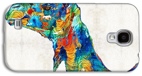 Colorful Camel Art By Sharon Cummings Galaxy S4 Case