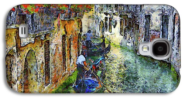 Colorful Canal In Venice Galaxy S4 Case