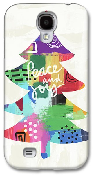 Colorful Christmas Tree- Art By Linda Woods Galaxy S4 Case by Linda Woods