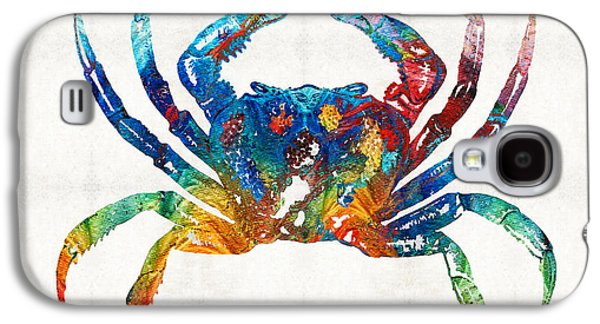 Colorful Crab Art By Sharon Cummings Galaxy S4 Case by Sharon Cummings