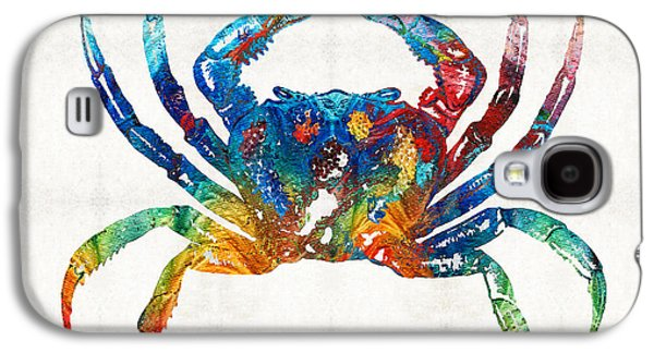 Colorful Crab Art By Sharon Cummings Galaxy S4 Case