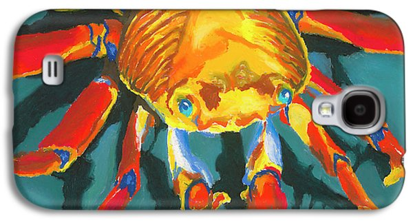 Orange Pastels Galaxy S4 Cases - Colorful Crab II Galaxy S4 Case by Stephen Anderson