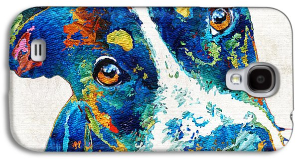 Colorful Dog Art - Happy Go Lucky - By Sharon Cummings Galaxy S4 Case