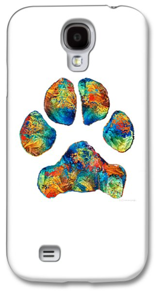 Colorful Dog Paw Print By Sharon Cummings Galaxy S4 Case