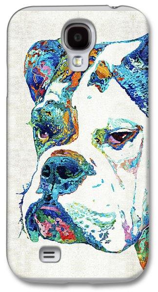 Colorful English Bulldog Art By Sharon Cummings Galaxy S4 Case