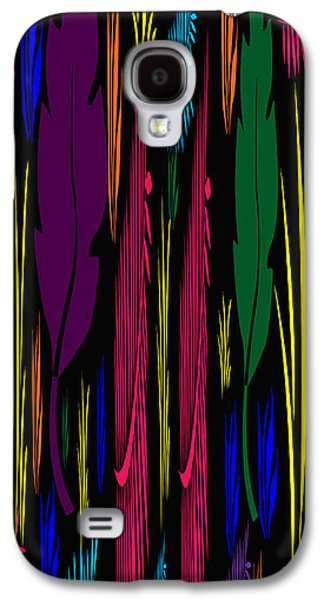 Colorful Feathers Abstract Galaxy S4 Case by Aimee L Maher Photography and Art Visit ALMGallerydotcom