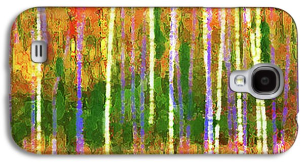 Colorful Forest Abstract Galaxy S4 Case