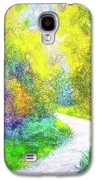 Colorful Garden Pathway - Trail In Santa Monica Mountains Galaxy S4 Case