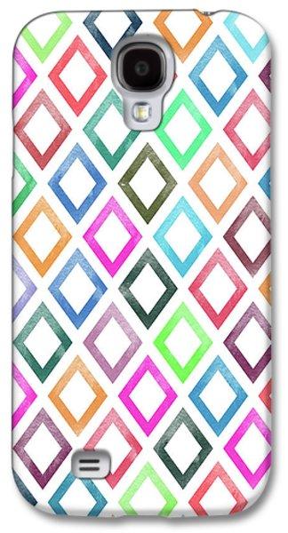 Colorful Geometric Patterns  Galaxy S4 Case by Amir Faysal
