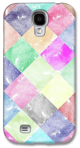 Colorful Geometric Patterns IIi Galaxy S4 Case by Amir Faysal