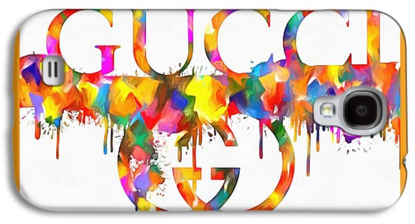 Colorful Gucci Paint Splatter Galaxy S4 Case