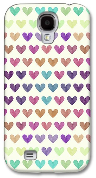 Colorful Hearts IIi Galaxy S4 Case by Amir Faysal