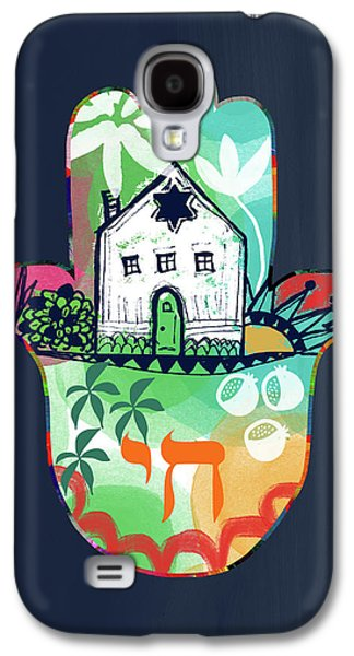 Colorful Home Hamsa- Art By Linda Woods Galaxy S4 Case by Linda Woods