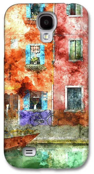Colorful Houses In Burano Island, Venice Galaxy S4 Case