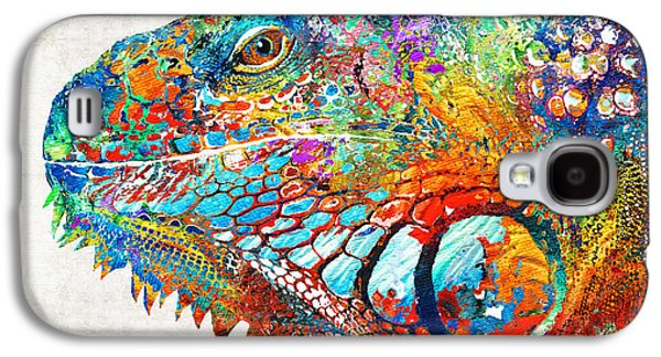 Colorful Iguana Art - One Cool Dude - Sharon Cummings Galaxy S4 Case