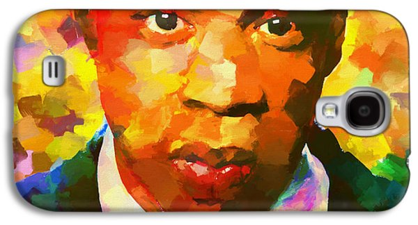 Colorful Jay Z Palette Knife Galaxy S4 Case by Dan Sproul