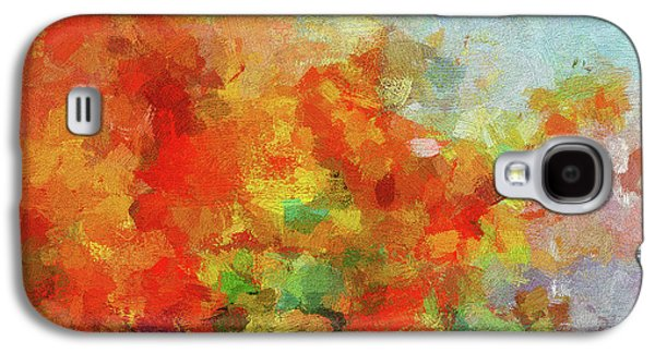 Colorful Landscape Art In Abstract Style Galaxy S4 Case by Ayse Deniz