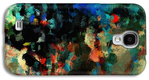 Colorful Landscape / Cityscape Abstract Painting Galaxy S4 Case by Ayse Deniz