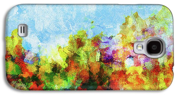 Colorful Landscape Painting In Abstract Style Galaxy S4 Case by Ayse Deniz