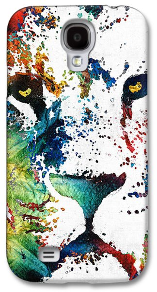 Colorful Lion Art By Sharon Cummings Galaxy S4 Case by Sharon Cummings