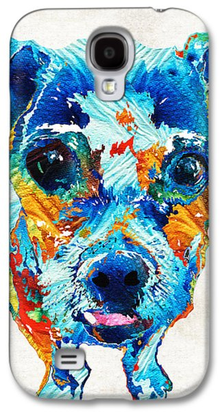 Colorful Little Dog Pop Art By Sharon Cummings Galaxy S4 Case by Sharon Cummings
