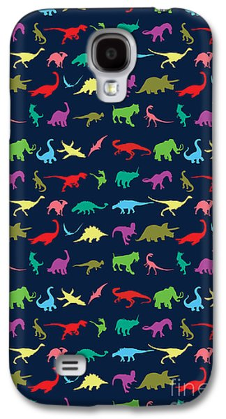 Colorful Mini Dinosaur Galaxy S4 Case by Naviblue