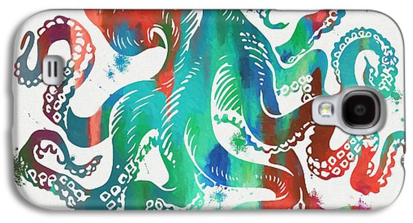 Colorful Octopus  Galaxy S4 Case by Dan Sproul