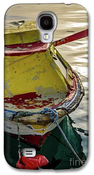 Colorful Old Red And Yellow Boat During Golden Hour In Croatia Galaxy S4 Case