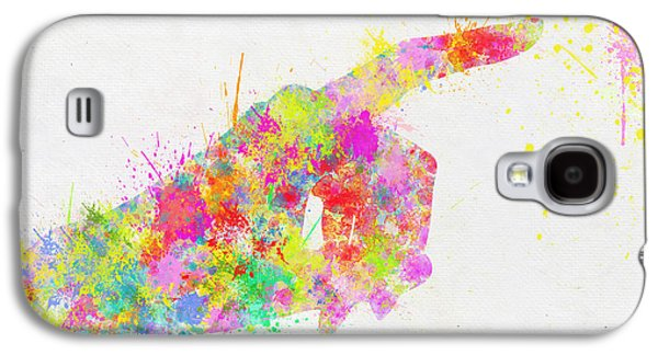 Colorful Painting Of Hand Pointing Finger Galaxy S4 Case