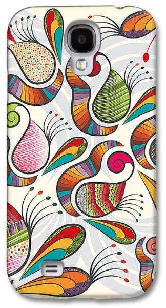 Colorful Paisley Pattern Galaxy S4 Case