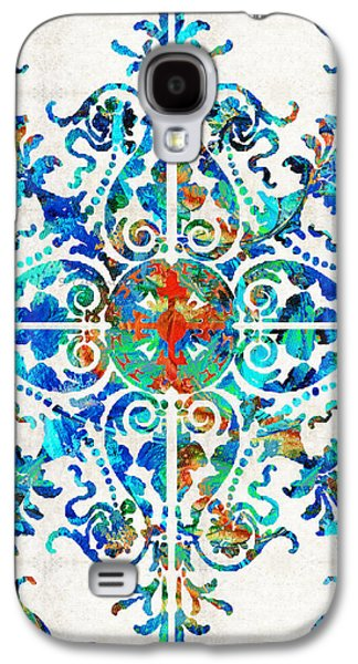 Colorful Pattern Art - Color Fusion Design 6 By Sharon Cummings Galaxy S4 Case by Sharon Cummings