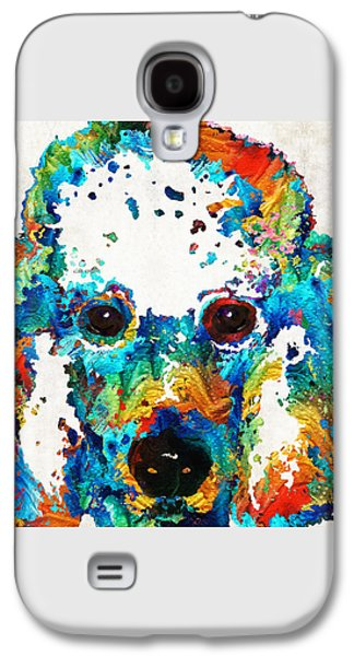 Colorful Poodle Dog Art By Sharon Cummings Galaxy S4 Case by Sharon Cummings