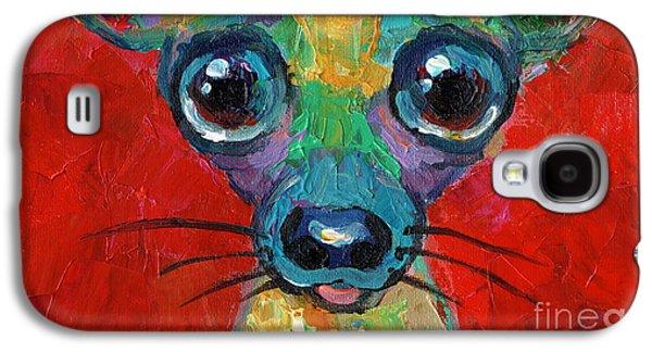 Colorful Pop Art Chihuahua Painting Galaxy S4 Case by Svetlana Novikova