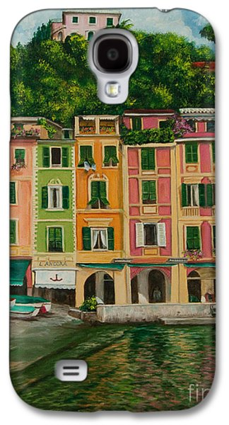 Colorful Portofino Galaxy S4 Case by Charlotte Blanchard
