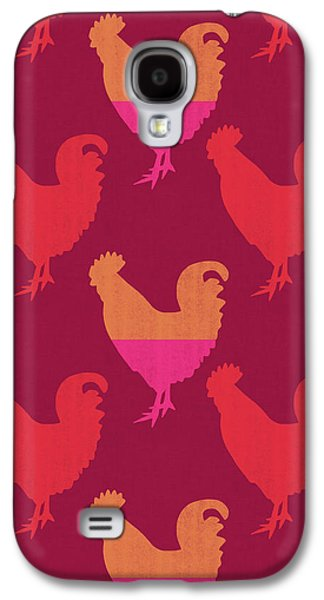 Colorful Roosters- Art By Linda Woods Galaxy S4 Case by Linda Woods