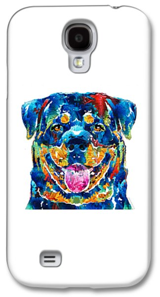 Colorful Rottie Art - Rottweiler By Sharon Cummings Galaxy S4 Case by Sharon Cummings