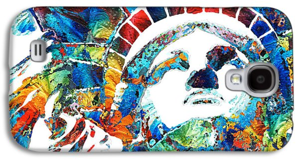 Colorful Statue Of Liberty - Sharon Cummings Galaxy S4 Case