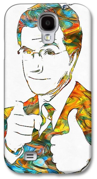 Colorful Stephen Colbert Galaxy S4 Case by Dan Sproul