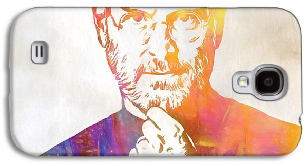 Colorful Steve Jobs Galaxy S4 Case by Dan Sproul