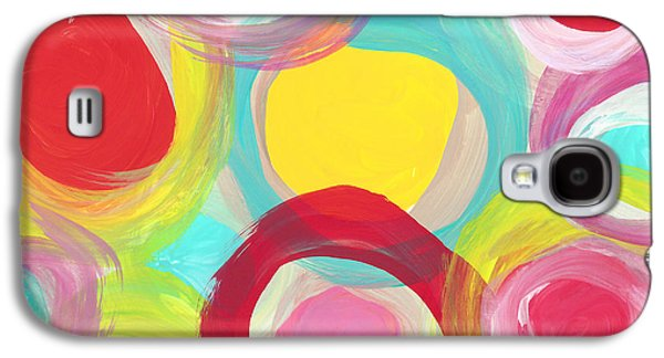 Colorful Sun Circles Galaxy S4 Case by Amy Vangsgard