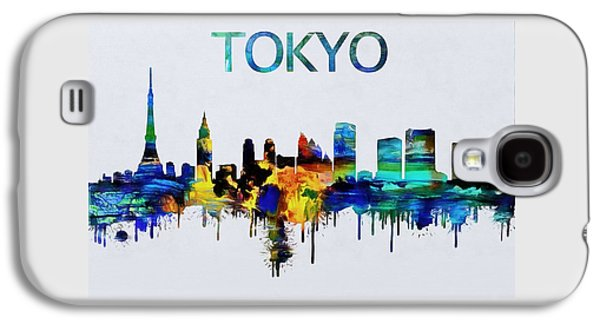 Colorful Tokyo Skyline Silhouette Galaxy S4 Case by Dan Sproul