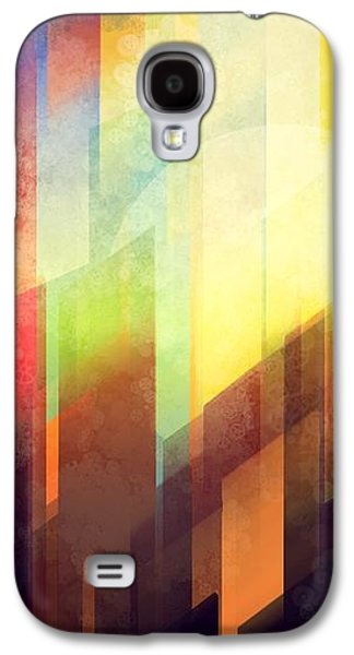 City Sunset Galaxy S4 Case - Colorful Urban Design by Thubakabra