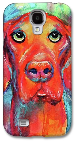 Colorful Galaxy S4 Case - Colorful Vista Dog Watercolor And Mixed by Svetlana Novikova