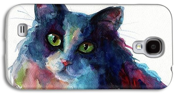 Colorful Watercolor Cat By Svetlana Galaxy S4 Case
