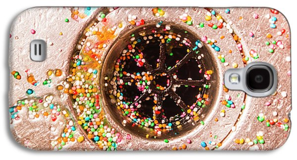 Colourful Confetti In Drain Galaxy S4 Case by Jorgo Photography - Wall Art Gallery